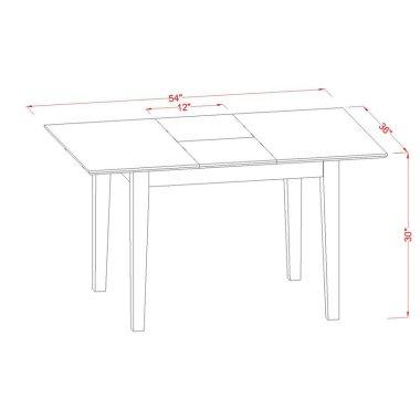 Набор Стол и стул для кухни Zuehlke 5 шт. в наборе раздвижной деревянный