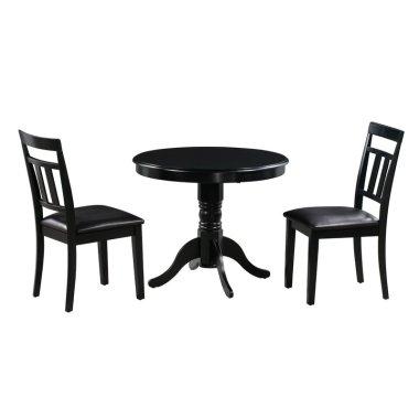 Набор Стол и стул для кухни Zion 3 шт. в наборе деревянный