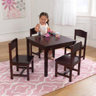 Детский стол и стулья Farmhouse 5 шт. квадратный (Комплект)