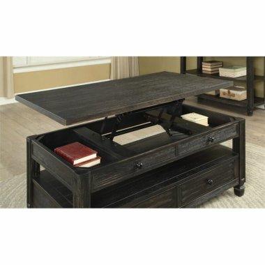 Журнальный кофейный столик Lift Top Baucom с полками - Baby House