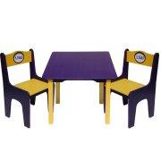 Детский стол и стулья NCAA 3 шт. (Комплект)
