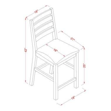 Набор Стол и стул для кухни 3 шт. в наборе деревянный  - Baby House