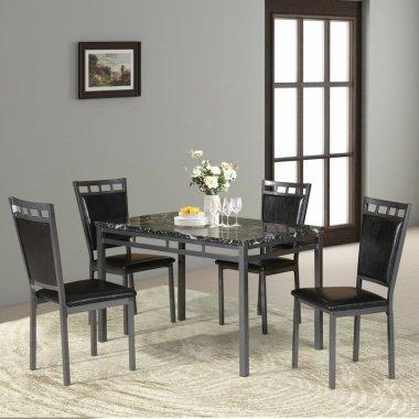 Набор Стол и стул для кухни Chittening Marble Metal 5 шт. в наборе  - Baby House
