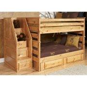 Двухъярусная детская кровать Allaroe с хранением - Baby House