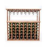 Винный шкаф для 48 бутылок напольный со стеклянной стойкой - Baby House