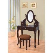 Макияжный столик Adrianna деревянный с зеркалом - Baby House