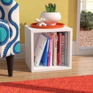 Напольная стильная полка стеллаж куб для книг и игрушек Baby House белая