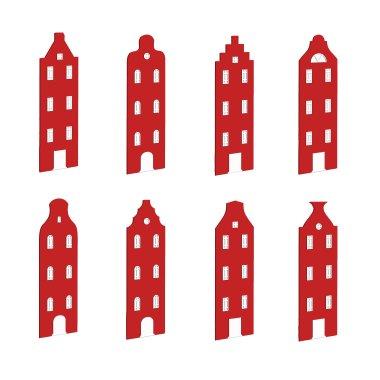 Гардеробный детский шкаф Амстердам Little Room Baby House бордовый