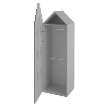 Шкаф-домик Амстердам для детской одежды Little Room Baby House серый