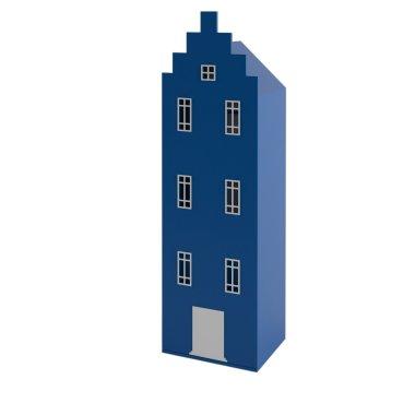 Детский шкаф гардеробный Амстердам Little Room Baby House синий