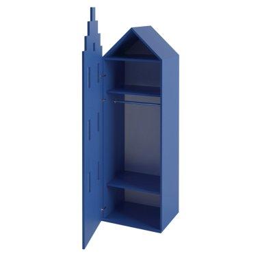Детский шкаф Амстердам для хранения вещей Little Room Baby House синий